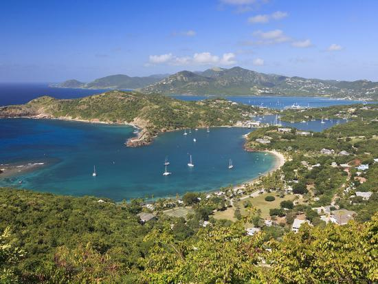 Caribbean, Antigua and Barbuda, English Harbour from Shirley's Heights-Michele Falzone-Photographic Print