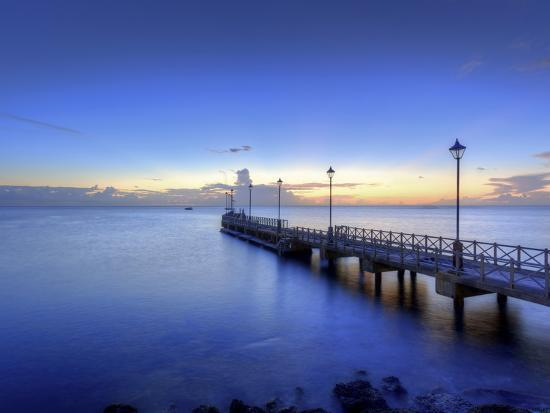 Caribbean, Barbados, Speighstown, Boat Jetty-Michele Falzone-Photographic Print