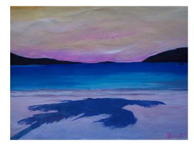 Caribbean Beach Palm In Soft Evening Light-M Bleichner-Art Print