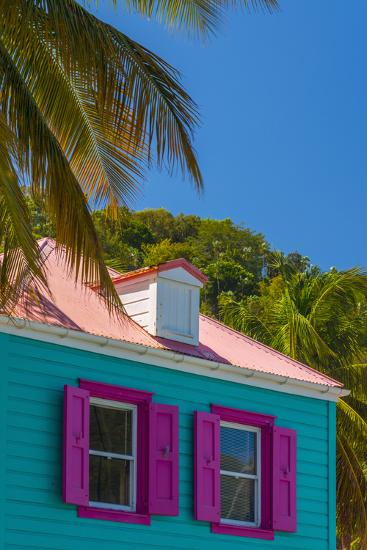Caribbean, British Virgin Islands, Tortola, Sopers Hole, Traditional Shuttered Windows-Alan Copson-Photographic Print