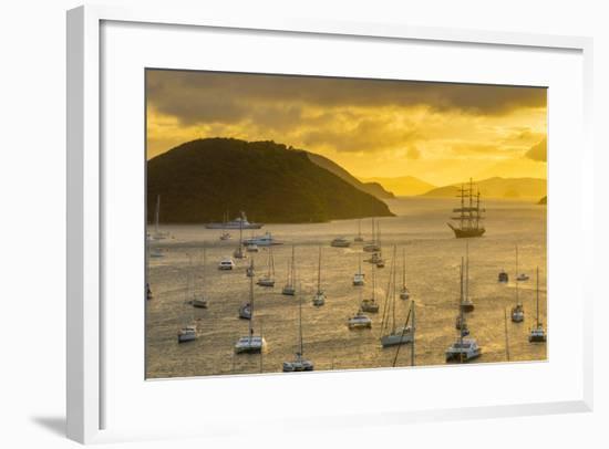 Caribbean, British Virgin Islands, Tortola, Sopers Hole-Alan Copson-Framed Photographic Print