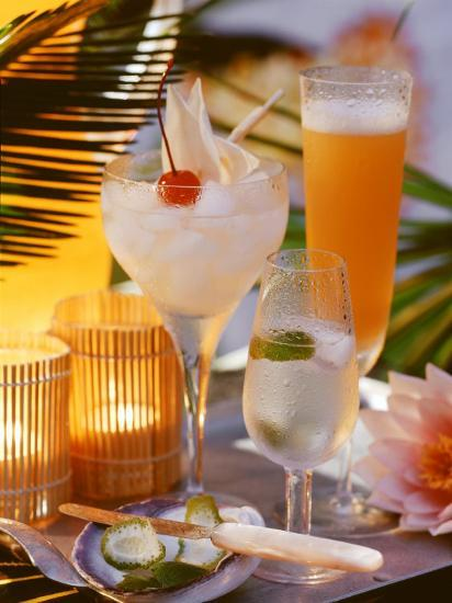 Caribbean Drinks with Rum: Ti Punch, Ti Doudou & Rum Sour--Photographic Print