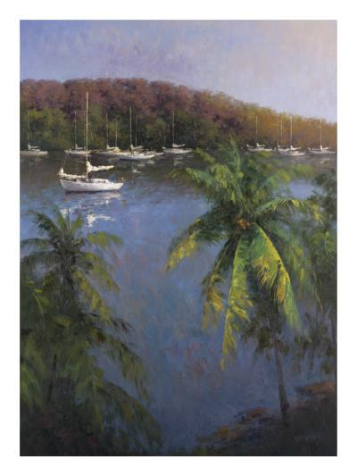 Caribbean Lagoon-Karen Dupr?-Art Print