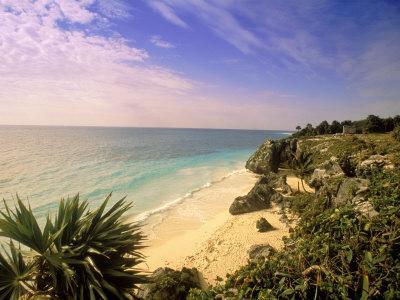 Caribbean Sea, Tulum, Yucatan, Mexico-Walter Bibikow-Photographic Print