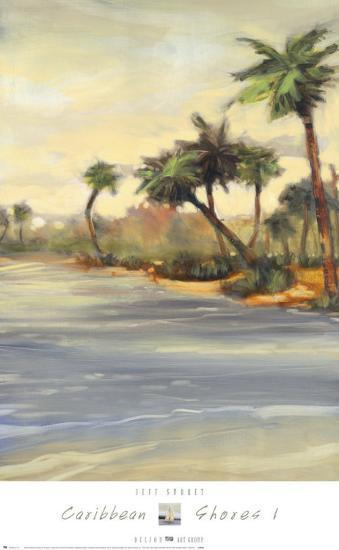 Caribbean Shores I-Jeff Surret-Art Print
