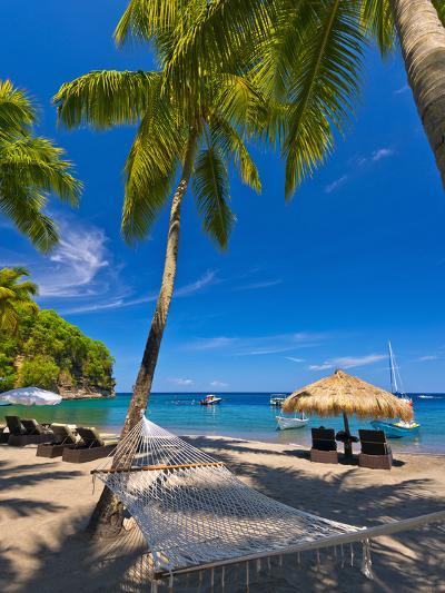 Caribbean, St Lucia, Soufriere, Anse Chastanet, Anse Chastanet Beach-Alan Copson-Photographic Print