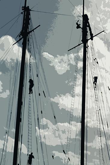Caribbean Vessel IV-Carolyn Longley-Photographic Print