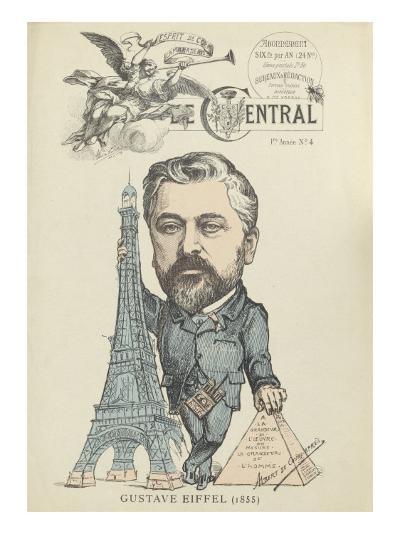 """Caricature de Gustave Eiffel, parue dans """"le Central""""--Giclee Print"""