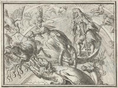 Caricature Depicting Louis XIV as Apollo in His Chariot, 1701-Romeyn De Hooghe-Giclee Print