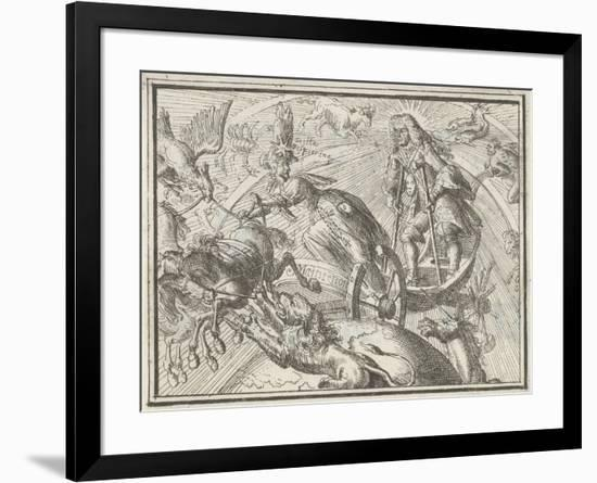 Caricature Depicting Louis XIV as Apollo in His Chariot, 1701-Romeyn De Hooghe-Framed Giclee Print