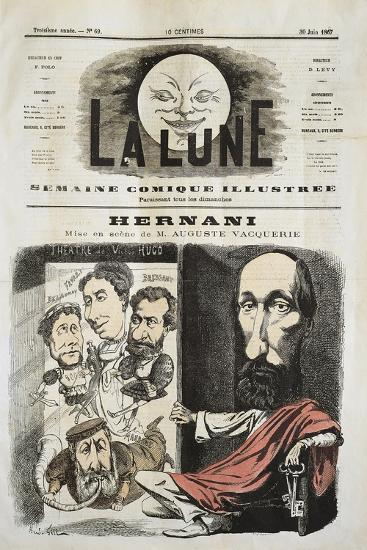 Caricature for Hernani by Victor-Marie Hugo, Cover of La Lune--Giclee Print