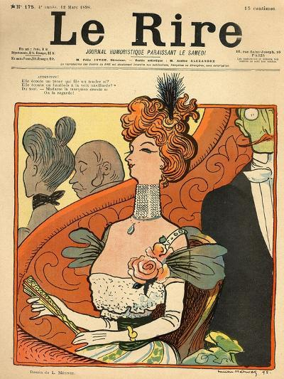 Caricature of a French Marquise, from the Front Cover of 'Le Rire', 12th March 1898- Metivet-Giclee Print