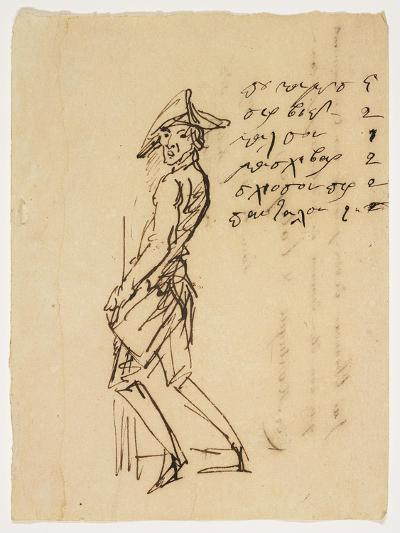 Caricature of a Young Soldier, 1809--Giclee Print