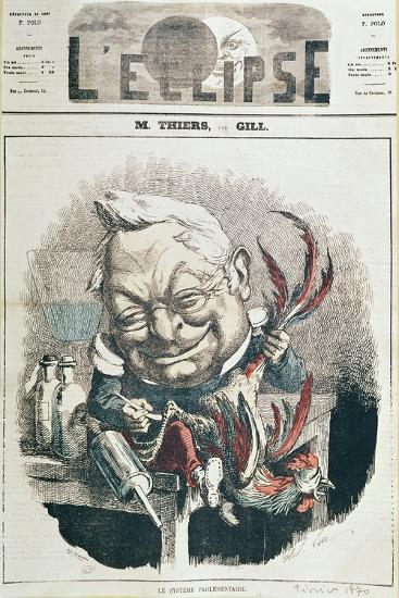 Caricature of Adolphe Thiers-Andre Gill-Giclee Print