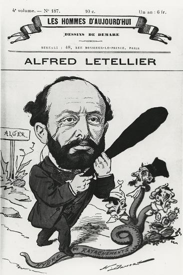 Caricature of Alfred Letellier, from 'Les Hommes D'Aujourd'Hui'-Henri Demare-Giclee Print
