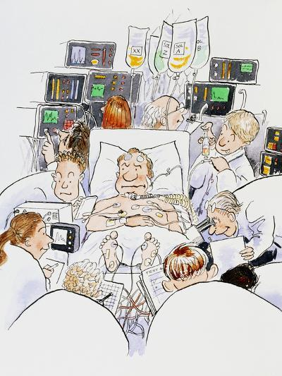 Caricature of An Intensive Care Ward-David Gifford-Photographic Print
