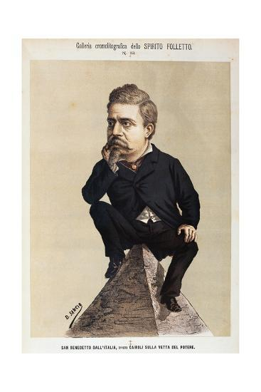Caricature of Benedetto Cairoli--Giclee Print