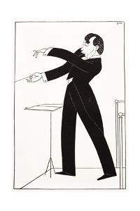 Caricature of Conductor Serge Koussevitzky