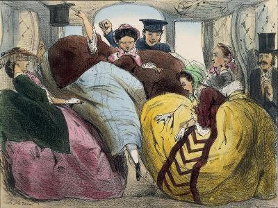 Caricature of First Class Train Car--Giclee Print