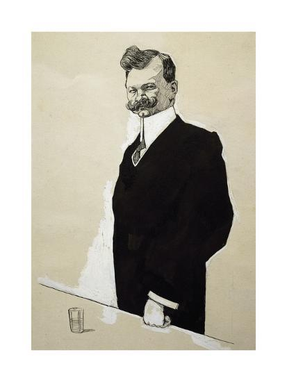 Caricature of Franz Lehar--Giclee Print