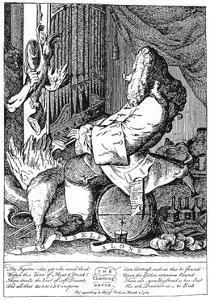 Caricature of George Frideric Handel (1685-175), 1754