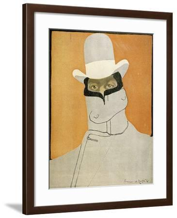 Caricature of Giacomo Puccini--Framed Giclee Print