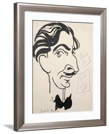 Caricature of Guido Da Verona--Framed Giclee Print