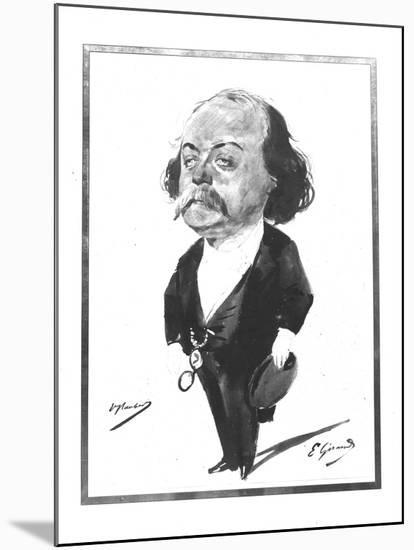 Caricature of Gustave Flaubert, 1867-Eugene Giraud-Mounted Giclee Print