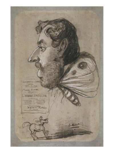 Caricature of Jules Didier-Claude Monet-Premium Giclee Print