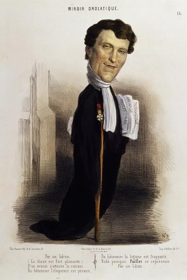 Caricature of Lawyer Paillet, Marie Capelle Lafarge's Defender, Circa 1845--Giclee Print