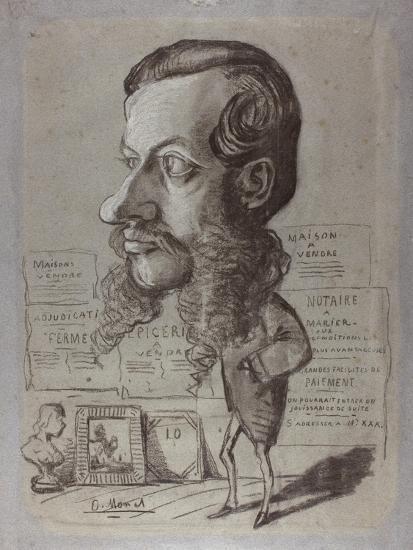 Caricature of Léon Manchon, c.1858-Claude Monet-Giclee Print