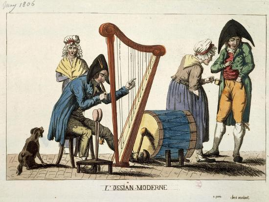 Caricature of Modern Ossian, 1806-Francois Quesnelel-Giclee Print