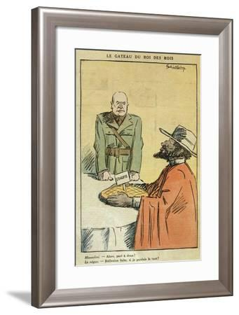 Caricature of Mussolini--Framed Giclee Print