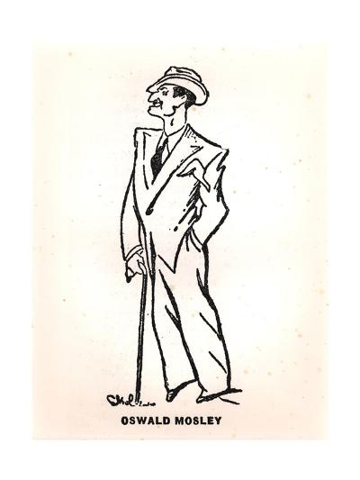 Caricature of Oswald Mosley--Giclee Print