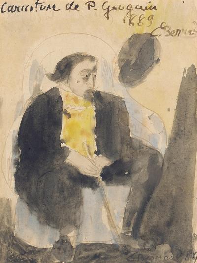Caricature of Paul Gauguin, 1889-Emile Bernard-Giclee Print