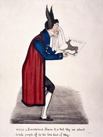 Caricature of Sir John Key, C1830-Charles Jameson Grant-Giclee Print