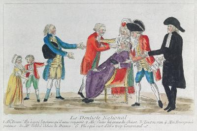 Caricature of the Nationalisation of Church Property in France During the French Revolution, 1792--Giclee Print
