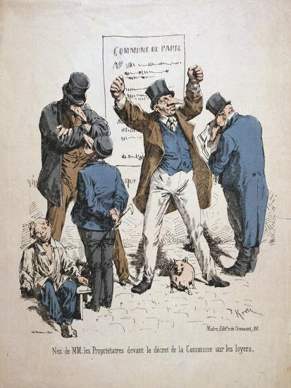 Caricature of the Proprietors, Paris Commune, 1871--Giclee Print
