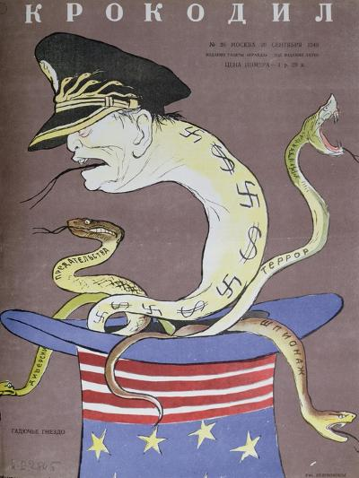 Caricature of Tito as the Servant of the Usa--Giclee Print
