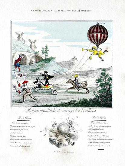 Caricature on the Direction of the Aerostat, 1887-Gaston Tissandier-Giclee Print