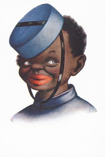 Caricature Portrait of a Black Bellboy--Giclee Print