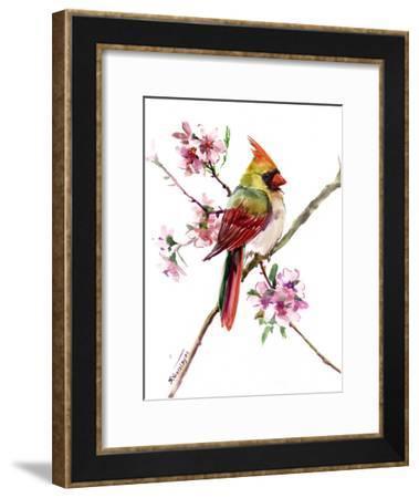 Caridnal Spring Tree-Suren Nersisyan-Framed Art Print