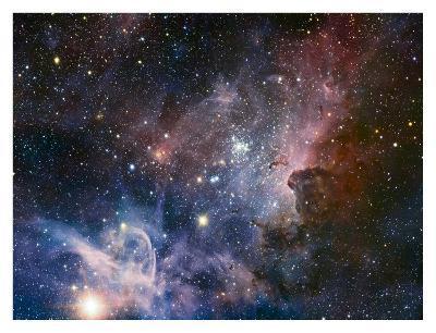 Carina Nebula Infrared from HAWK-I-ESO-Art Print