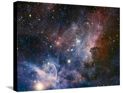 Carina Nebula Infrared from HAWK-I-ESO-Stretched Canvas Print