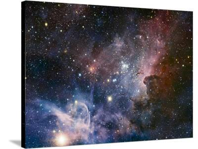 Carina Nebula Infrared from HAWK-I-ESO-Stretched Canvas Print