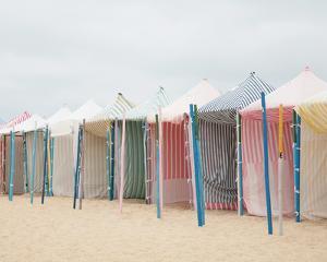 Beach Tent Parade - Focus by Carina Okula