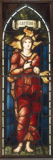 Caritas - A Stained Glass Window-Edward Burne-Jones-Giclee Print