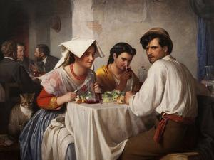 In a Roman Osteria, 1866 by Carl Bloch