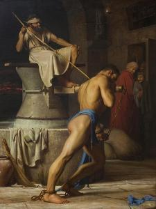 Samson and the Philistines, 1863 by Carl Bloch