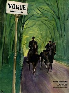 "Vogue Cover - April 1932 by Carl ""Eric"" Erickson"